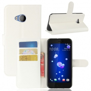 Tasche Wallet Premium Weiß für HTC U11 Life Hülle Case Cover Etui Schutz Zubehör