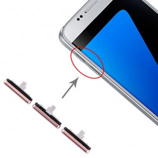 Für Samsung Galaxy S7 Sidekeys Seitentasten Pink Ersatzteil Zubehör Reparatur