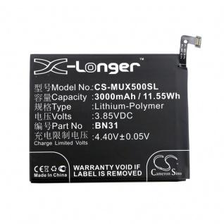 Akku Batterie Battery für Xiaomi Mi 5X & Dual Sim ersetzt BN31 Ersatzakku Accu - Vorschau 3