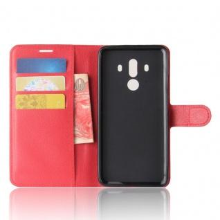 Tasche Wallet Premium Rot für Huawei Mate 10 Pro Hülle Case Cover Etui Schutz - Vorschau 4