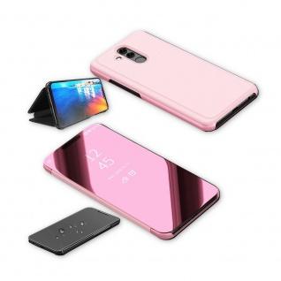 Für Huawei P30 Clear View Smart Cover Magenta Etuis Tasche Hülle Wake UP Case - Vorschau 3