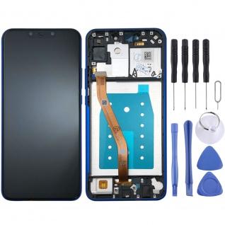 Für Huawei P Smart Plus Display Full LCD Touch mit Rahmen Reparatur Blau Ersatz