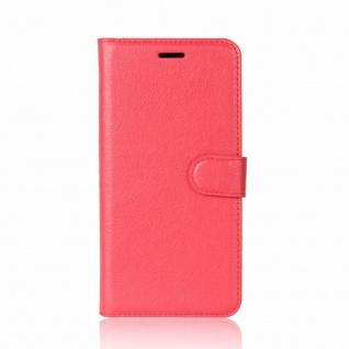 Tasche Wallet Premium Rot für Wiko Sunny 2 Plus Hülle Case Cover Etui Schutz Neu - Vorschau 2