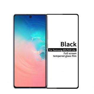 Für Samsung Galaxy S10 Lite G970F 2x 3D Display Full H9 Hart Glas Schwarz Folie