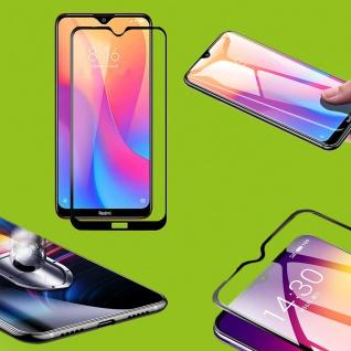 Für Xiaomi Redmi Note 8 0, 3 9D Display H9 Hart Glas Schwarz Schutz Folie Panzer