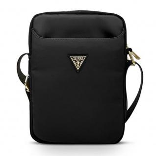 Guess Universal Handtasche für Tablets Schwarz Nylon Triangle Logo Collection