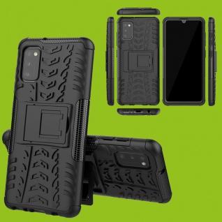 Für Samsung Galaxy A41 A415F Hybrid Case Outdoor Schwarz Handy Tasche Etuis Neu