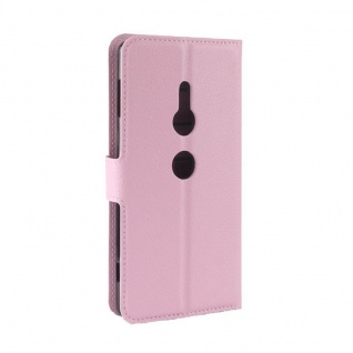 Tasche Wallet Premium Rosa für Sony Xperia XZ2 Hülle Case Cover Schutz Etui Neu - Vorschau 3