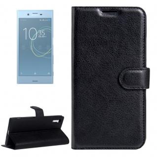 Tasche Wallet Premium Schwarz für Sony Xperia XSZ / XZ Schutz Hülle Case Cover
