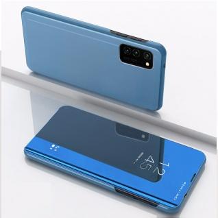 Für Huawei P Smart 2021 View Smart Cover Hülle Blau Handy Tasche Etuis Wake UP