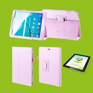 Für Samsung Galaxy Tab S5e 10.5 T720F Rosa Etuis Tasche Kunst Leder + H9 Glas