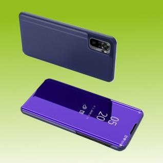 Für Xiaomi Redmi Note 10 Pro View Smart Cover Hülle Lila Handy Tasche Etuis Case