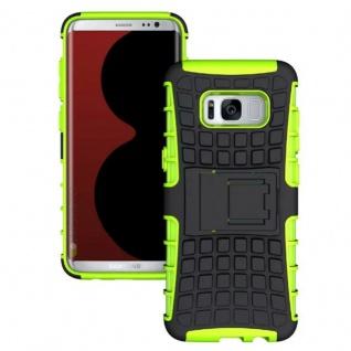 Hybrid Case 2teilig Outdoor Grün Tasche Hülle für Samsung Galaxy S8 Plus G955F