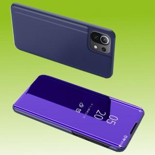 Für Xiaomi Mi 11 Lite View Smart Cover Hülle Lila Handy Tasche Etuis Case Schutz