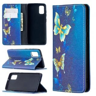 Für Samsung Galaxy A41 Kunstleder Handy Tasche Book Motiv 9 Hülle Case Etuis