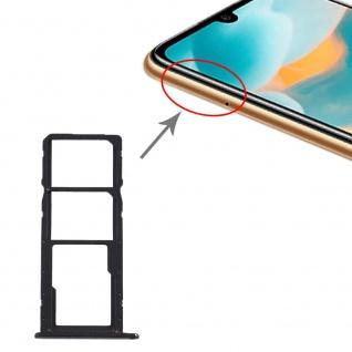 Für Huawei Y6 2019 SIM + SIM Card Tray Karten Halter + Micro SD Schwarz