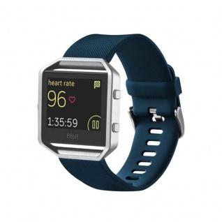 Kunststoff / Silikon Uhr Armband für Fitbit Blaze Watch Dunkel Blau 17-20 cm