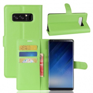 Schutzhülle Grün für Samsung Galaxy Note 8 N950F Bookcover Tasche Case Cover Neu