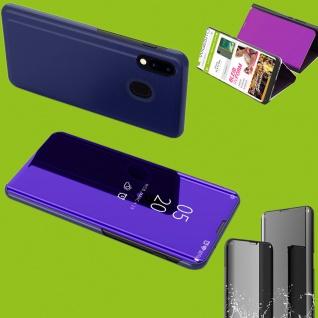 Für Samsung Galaxy A50 6.4 Clear View Smart Cover Lila Etui Tasche Hülle Wake UP