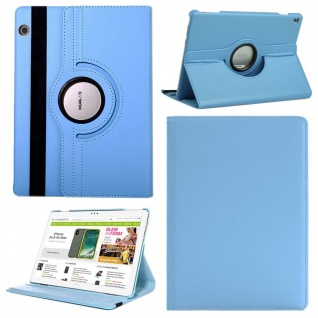 Für Apple iPad Pro 12.9 3. Gen Hellblau 360 Grad Hülle Cover Tasche Kunstleder