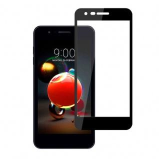 Für LG K9 2018 3D Premium 0, 3 mm H9 Hartglas Schwarz Folie Schutz Hülle Zubehör