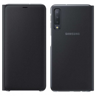 Samsung Wallet Cover Hülle EF-WA750PBEG Galaxy A7 2018 A750F Schutzhülle Schwarz