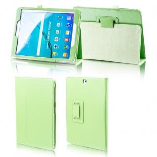 Für Samsung Galaxy Tab S5e 10.5 T720F Grün Kunst Leder Hülle Tasche Etuis Cover