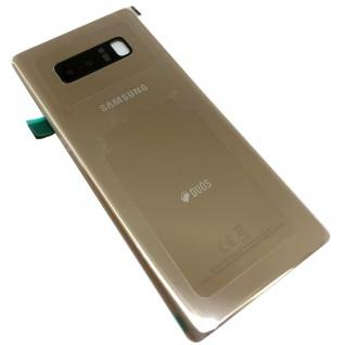 Samsung GH82-14985D Akku Deckel für Galaxy Note 8 DUOS N950F + Klebepad Gold