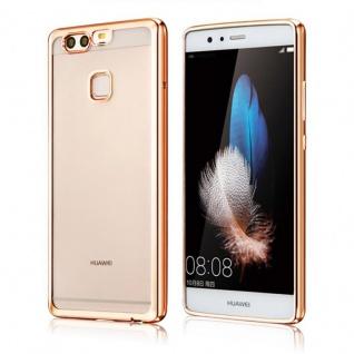 Premium TPU Schutzhülle Gold für Huawei P9 Tasche Case Backcover Silikon Zubehör