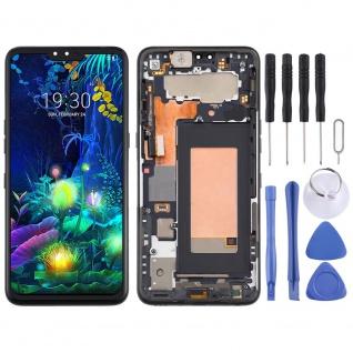Für LG V50 ThinQ 5G Display Full LCD + Rahmen Touch Ersatz Teil Schwarz Neu