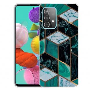Für Samsung Galaxy A32 5G Silikon TPU Marble Dunkel Grün Handy Hülle