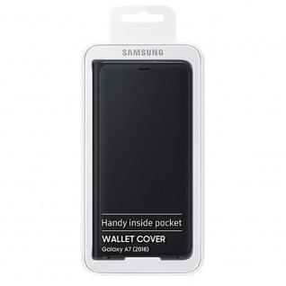 Samsung Wallet Cover Hülle EF-WA750PBEG Galaxy A7 2018 A750F Schutzhülle Schwarz - Vorschau 4