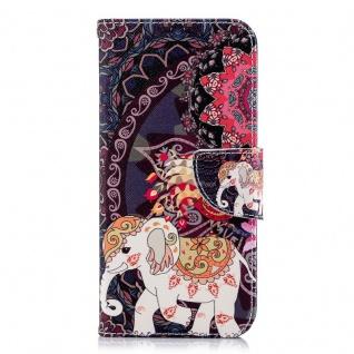 Tasche Wallet Book Muster Motiv 40 für Smartphones Schutz Hülle Case Cover Etui - Vorschau 2