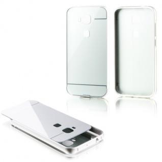 Alu Bumper 2 teilig mit Abdeckung Silber für Huawei G8 5.5 Zoll Tasche Hülle Neu