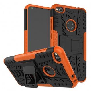 Hybrid Case 2teilig Outdoor Orange für Huawei P8 Lite 2017 Tasche Hülle Cover