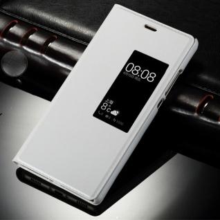 Booktasche Flip Window Weiß für Huawei P10 Tasche Cover Hülle Case Etui Zubehör