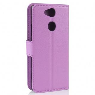 Tasche Wallet Premium Lila für Sony Xperia XA2 Hülle Case Cover Schutz Etui Neu - Vorschau 3