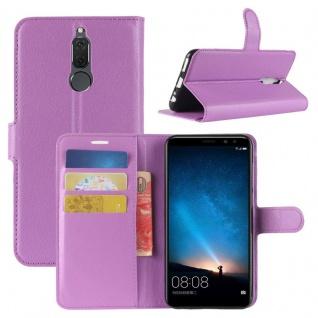 Tasche Wallet Premium Lila für Huawei Mate 10 Lite Hülle Case Cover Etui Schutz