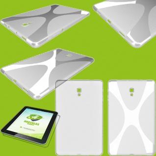 Silikon Hülle Tasche Transparent für Samsung Galaxy Tab A 10.5 T590 T595 + Glas