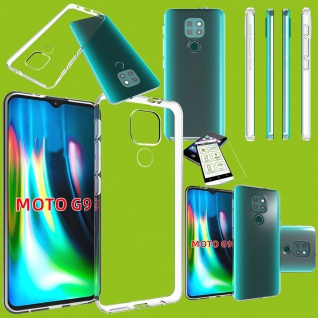 Für Motorola Moto E7 Plus / G9 / G9 Play Silikon TPU + H9 Glas Handy Hülle