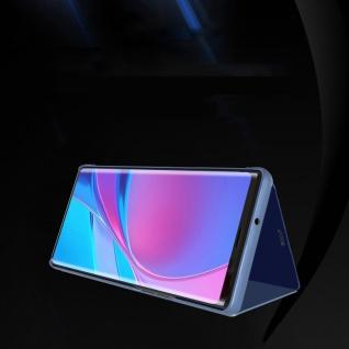 Für Huawei P40 Clear View Smart Cover Etuis Schutz Schwarz Handy Tasche Wake UP - Vorschau 3
