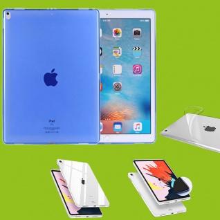 Für Apple iPad Pro 12.9 Zoll 2018 Blau Tasche Hülle Case Cover TPU Silikon dünn