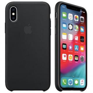 Apple Silicone Case für iPhone XS Schwarz Silikon Schutzhülle Tasche Cover Etui