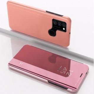Für Samsung Galaxy A21s View Smart Cover Hülle Rosa Handy Tasche Etuis Wake UP