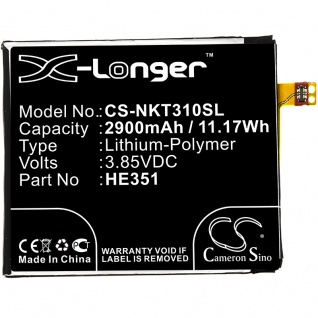 Akku Batterie Battery für Nokia 3.1 CS-NKT310SL X-Longer Ersatzakku Accu Zubehör