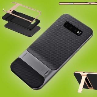 Für Samsung Galaxy S10 Plus Standing Hybrid Grau Tasche Etuis Hülle Outdoor Case