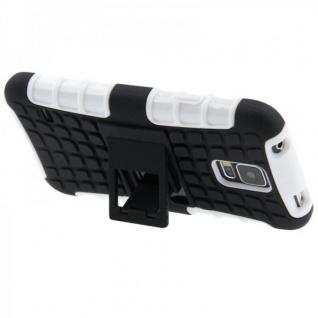 Hybrid Case 2 teilig Robot Weiss Cover Hülle für Samsung Galaxy S5 Mini G800 F - Vorschau 3