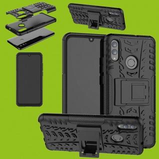 Für Huawei P Smart / Plus 2019 Hybrid 2teilig Outdoor Schwarz Tasche Hülle Etuis