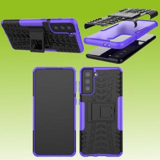 Für Samsung Galaxy S21 Plus G996B Outdoor Lila Handy Tasche Etuis Hülle Cover