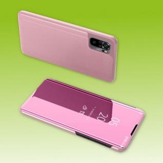 Für Xiaomi Redmi Note 10 Pro View Smart Cover Hülle Pink Handy Tasche Etuis Case